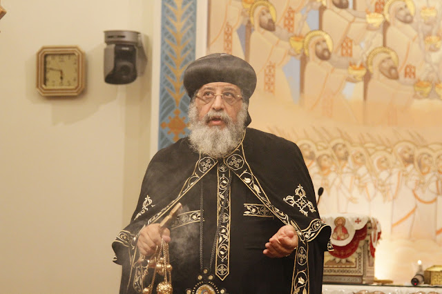 His Holiness Pope Tawadros II visit to St. Mark LA - _MG_0552.JPG