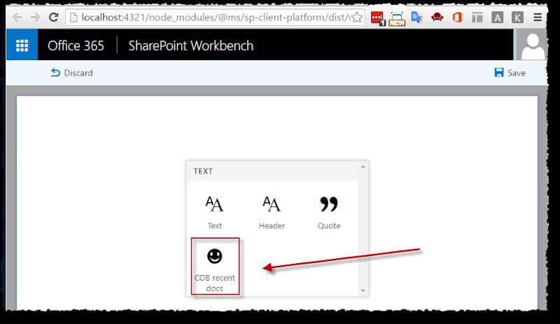 SP workbench - add client web part
