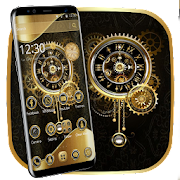 App Clock Luxury Gold Theme APK for Windows Phone