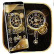 Clock Luxury Gold Theme APK