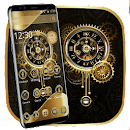 Clock Luxury Gold Theme file APK Free for PC, smart TV Download