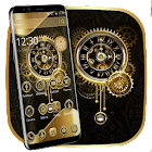 Clock Luxury Gold Theme icon