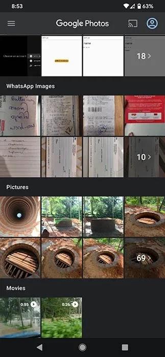 الصور الاحتياطية من Googlephotos