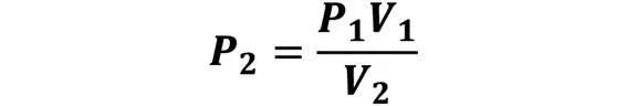 Las leyes de los gases: de boyle, de Charles, de Gay Lussac, de Avogadro y de Dalton - Despeje de la ley de Boyle en caso de que se conozca P1, V1 y V2; pero se desconoce P2 - sdce.es - sitio de consulta escolar