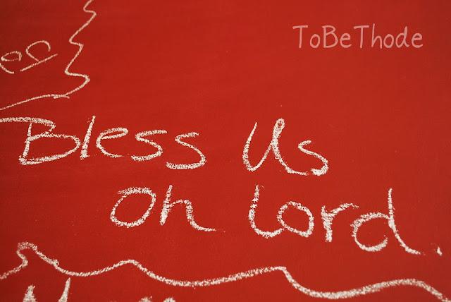 chalkboard table prayers