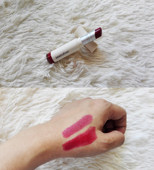wasado, korean makeup, lipstick, innisfree, beauty blogger, phnom penh, cambodia, red lipstick, sexy lips, makeup artist, review, swatches, burgundy plum
