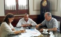 La Secretaria de Desarrollo Rural del Ministerio de Agricultura, Ganadería y Pesca de la Nación, Carla Campos Bilbao, mantuvo un encuentro de trabajo con el intendente del municipio bonaerense de Tres Arroyos, Carlos Sánchez.