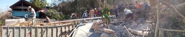 Reportase Baksos Pengecoran Bak penampungan air bersih di Keruk Batur, Majaksingi,Borobudur, Kabupaten Magelang