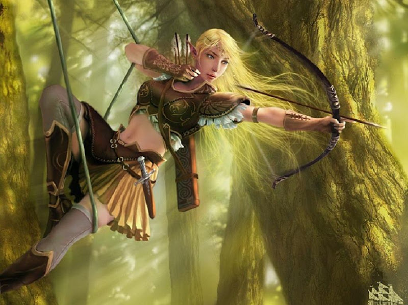 Elf Girl On The Tree, Elven Girls 2