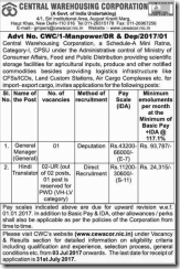 CWC-Advertisement-2017-www.indgovtjobs.in