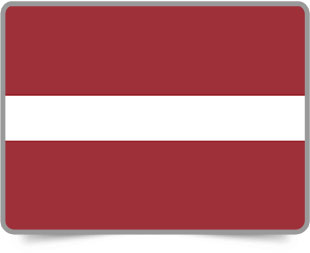 Latvian framed flag icons with box shadow