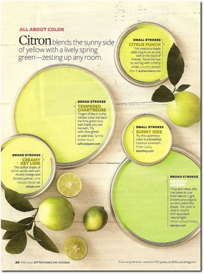 Citron paint color scheme