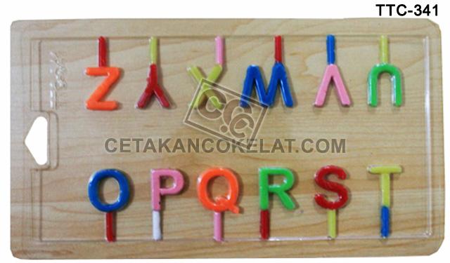 cetakan coklat cokelat Huruf Abjad Alfabet TTC341