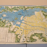 old map of nagasaki with the artificial island of Dejima in Tokyo, Tokyo, Japan