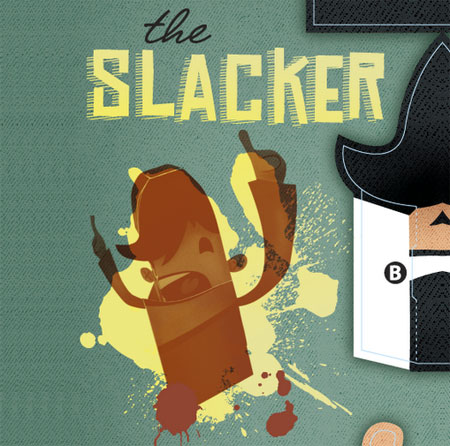 Slacker Paper Toy