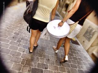 Turistas en la Calle Sans