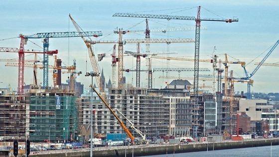 Cranes in Dublin