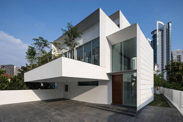 Biệt thự hiện đại với cách phân tách khu vực trong nhà ấn tượng