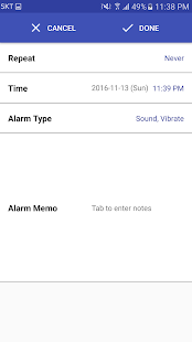 Alarm Note : Memo Notification - náhled