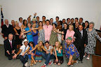 The cast with all of the co-hosts Photo taken by Dana Driensky