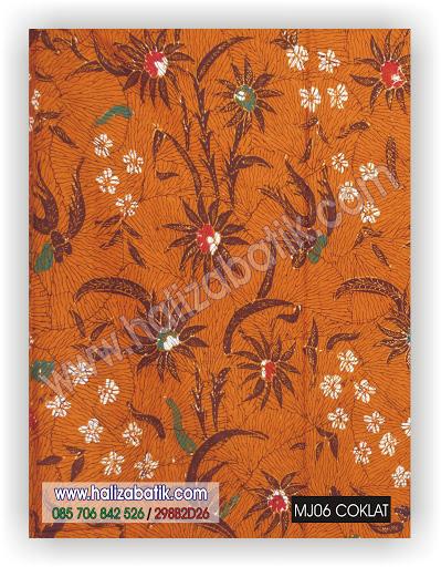 Desain Batik, Baju Batik Online, Grosir Batik Pekalongan, MJ06 COKLAT