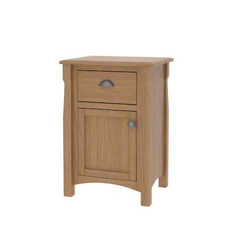 Catalina Nightstand with Door, Natural Oak