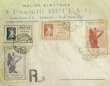 1945 - francobolli resistenza valle bormida - annulli