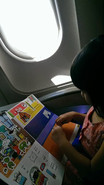 Tiger Girl on the plane