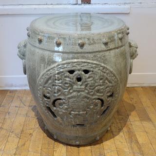 Ceramic Garden Stool #1