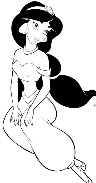 Disney Princess Jasmine Coloring Page