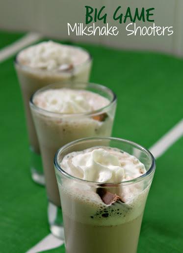 Big Game Milkshake Shooters recipe made with Edy's Grand Touchdown Sundae Ice Cream #GameTimeMVP