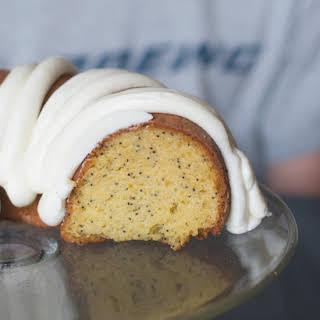 Lemon Poppy Seed Cake with Lemon Cream Cheese Frosting.