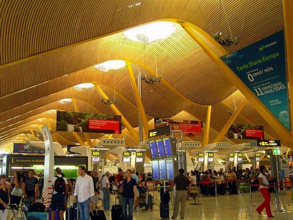 По дороге на Гран Канарию аэропорт Барахас - Barajas Мадрид