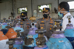 Kapolres Probolinggo Pastikan Stok Oksigen untuk Layanan Medis Aman dan Tercukupi
