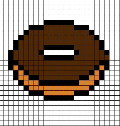 Le Monde En 8 Bit Donut Au Chocolat