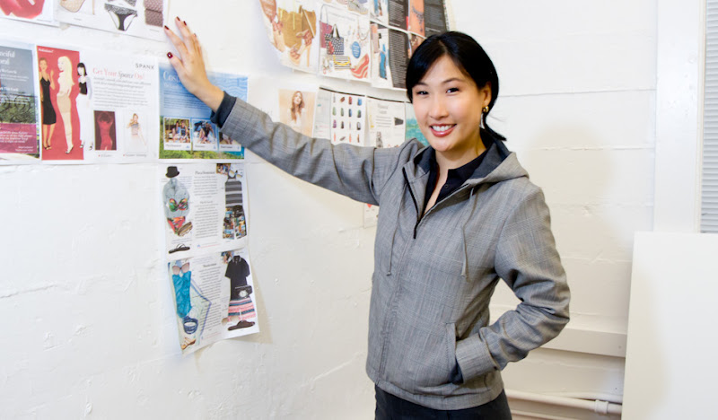 Women's GP Exec Hoodie: Alice by Collage Wall