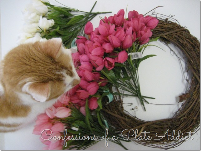CONFESSIONS OF A PLATE ADDICT DIY Tulip Wreath Supplies
