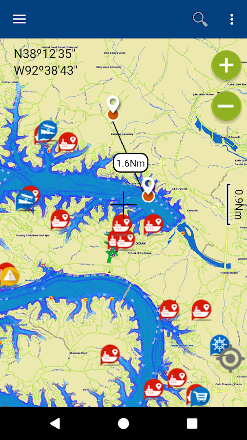 Lake of the Ozarks gps fishing  Android Apps on Google Play