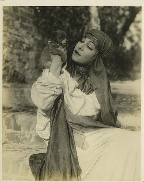 Alla Nazimova and a dog