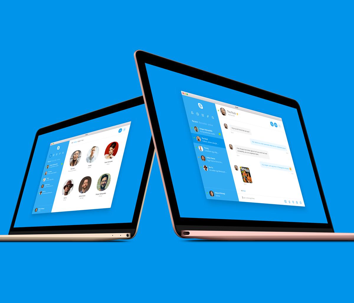 Fantástico rediseño de Skype para Mac [Concepto]