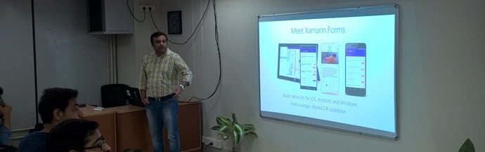 "Abhishek Sur (Microsoft MVP) started with ""Xamarin.Forms"""