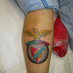 slb benfica leg - Sports Tattoos