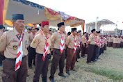 Lemahabang Buka Jambore Pramuka 58 Masih di Sawah
