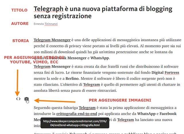 telegraph-pagine-web