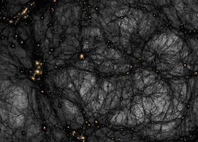 matéria escura numa simulação do Universo