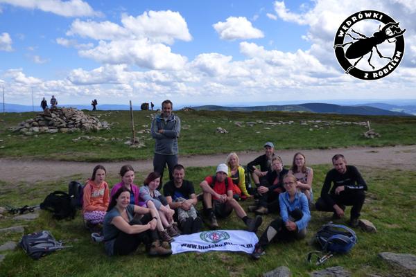 nasza grupa na szczycie Śnieżnika