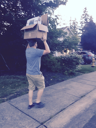 we have resorted to stealing boxes from our neighbors recycling when we see them while out walking.