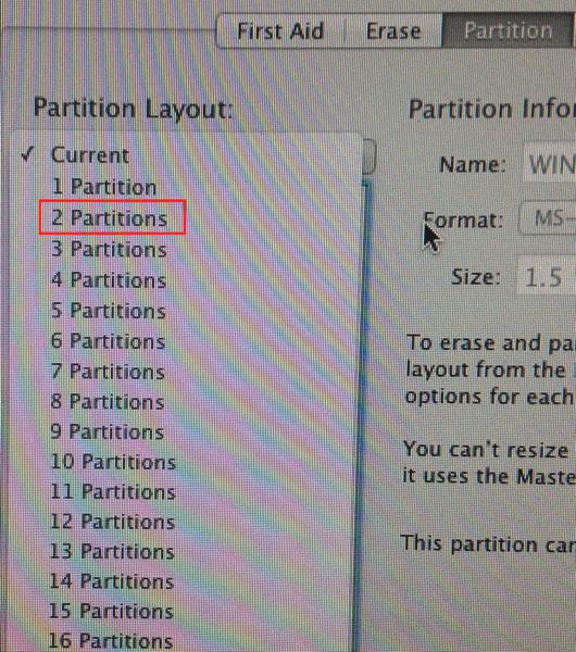 Partions Two Scheme