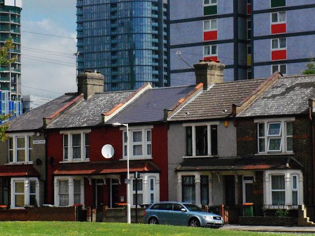 council houses and new buildings