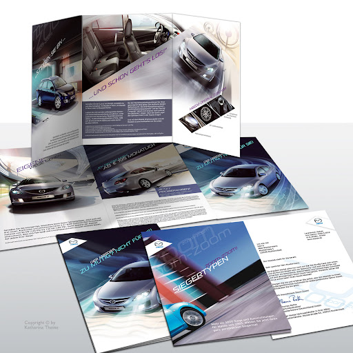 Mehrteiliges Mailing zum Mazda-M6 (Mazda). Copyright © by Katharina Theine